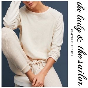 Anthro The Lady & The Sailor Drawstring Pullover